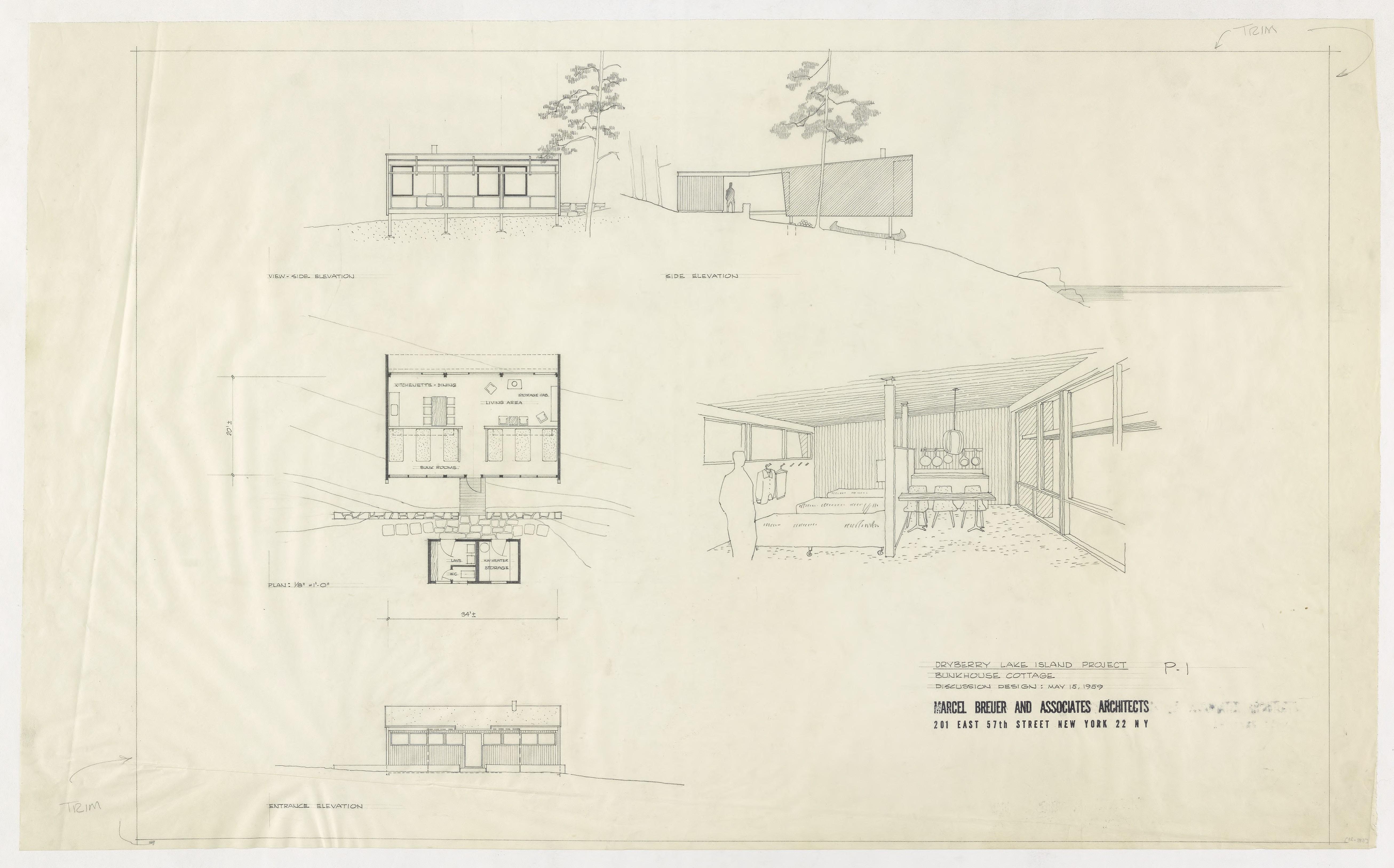 diagram of bunkhouse marcel breuer digital archive  marcel breuer digital archive