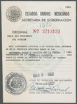 Click to select: Mexican Tourist Visa No. 3713133