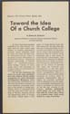 Click to select: Toward the Idea Of a Church College