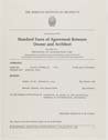 Click to select: Standard Form of Agreement Between Owner and Architect