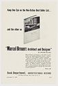 Click to select: Advertisement for Marcel Breuer: Architect and Designer