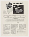 Click to select: Advertisement and order slip for Marcel Breuer: Architect and Designer