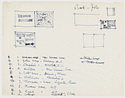 Click to select: Sketches of layout for Peter Blake's book, Marcel Breuer: Architect and Designer