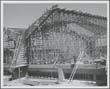 Click to select: Construction Photograph, Scaffolding for Half of Chapel Roof