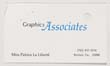 Click to select: Business card for Miss Patrice La Liberte; Graphics Associates