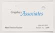 Click to select: Business card for Miss Patricia Rayner; Graphics Associates