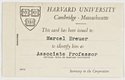 Click to select: Identity Card for Marcel Breuer