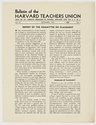 Click to select: Bulletin of the Harvard Teachers Union, Vol .IV, No. 1