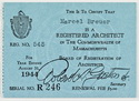 Click to select: Massachusetts Registration Card 1944