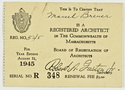 Click to select: Massachusetts Registration Card 1945