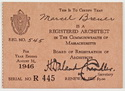Click to select: Massachusetts Registration Card 1946