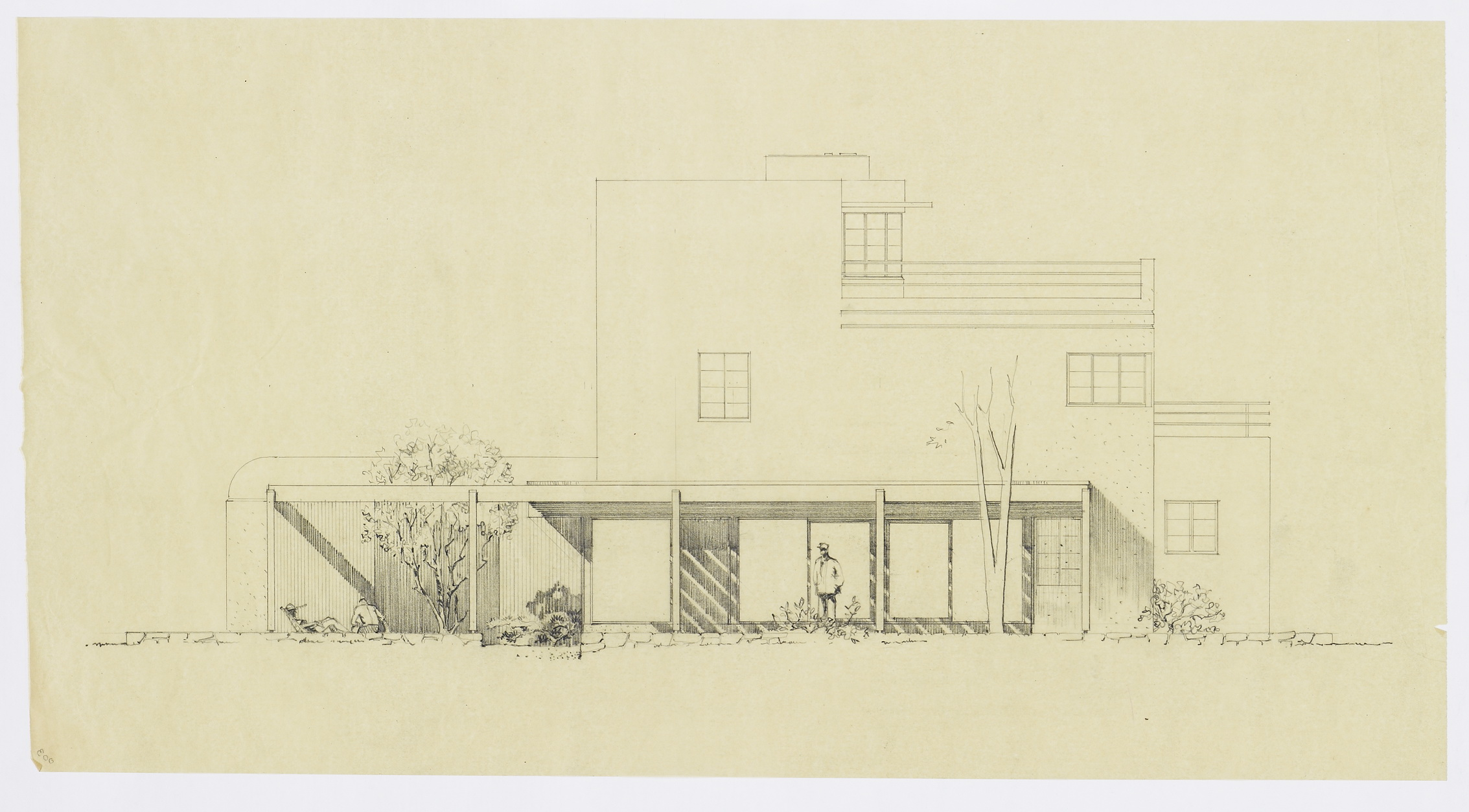Aufricht House, Addition (1953)