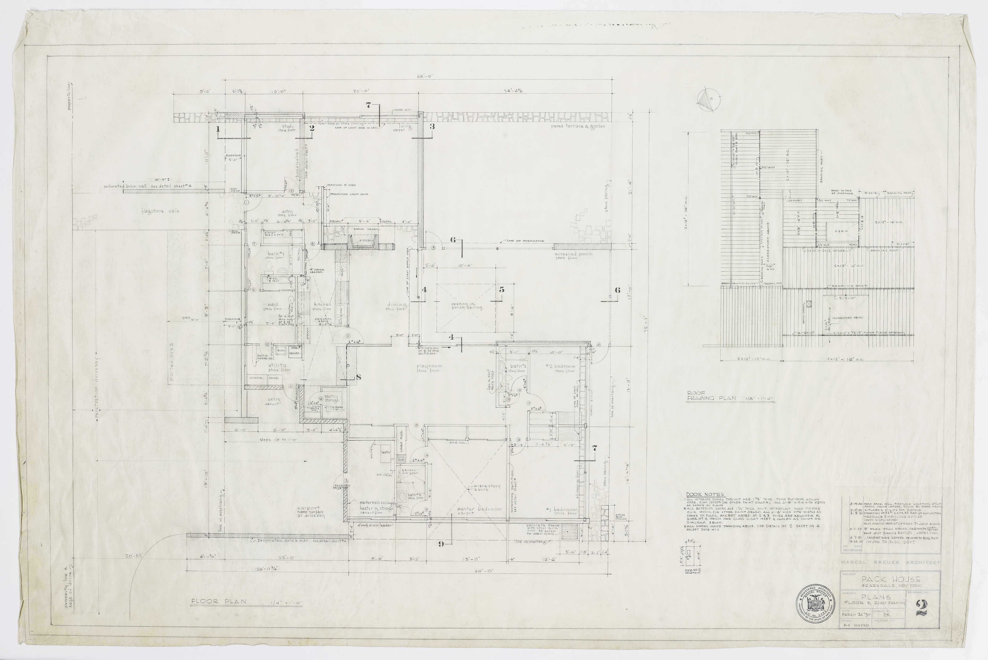 Click to show Plans: Floor and Roof Framing (Dwg. No. 2) 4