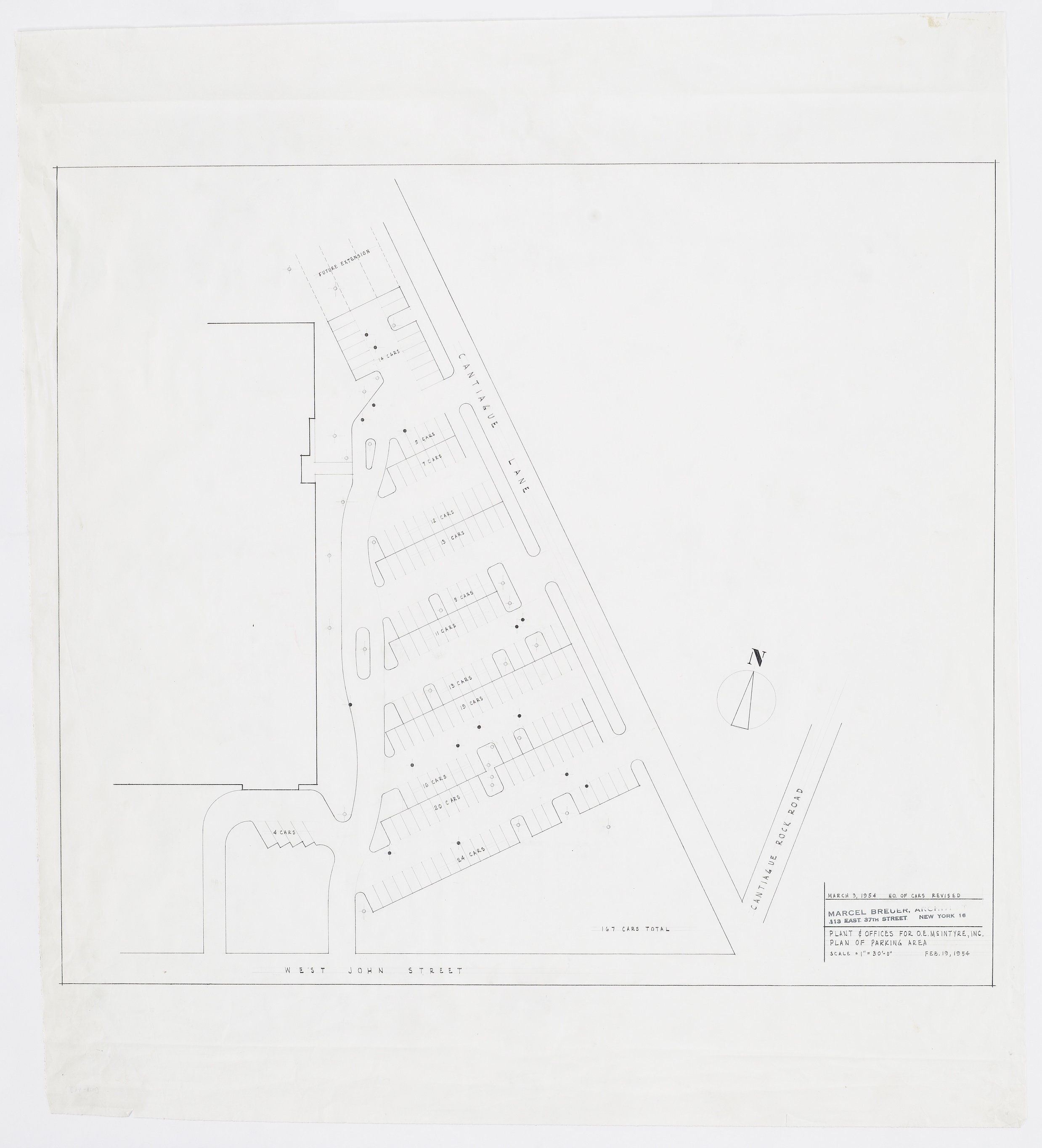 Click to select: Plan of Parking Area (167 Cars)