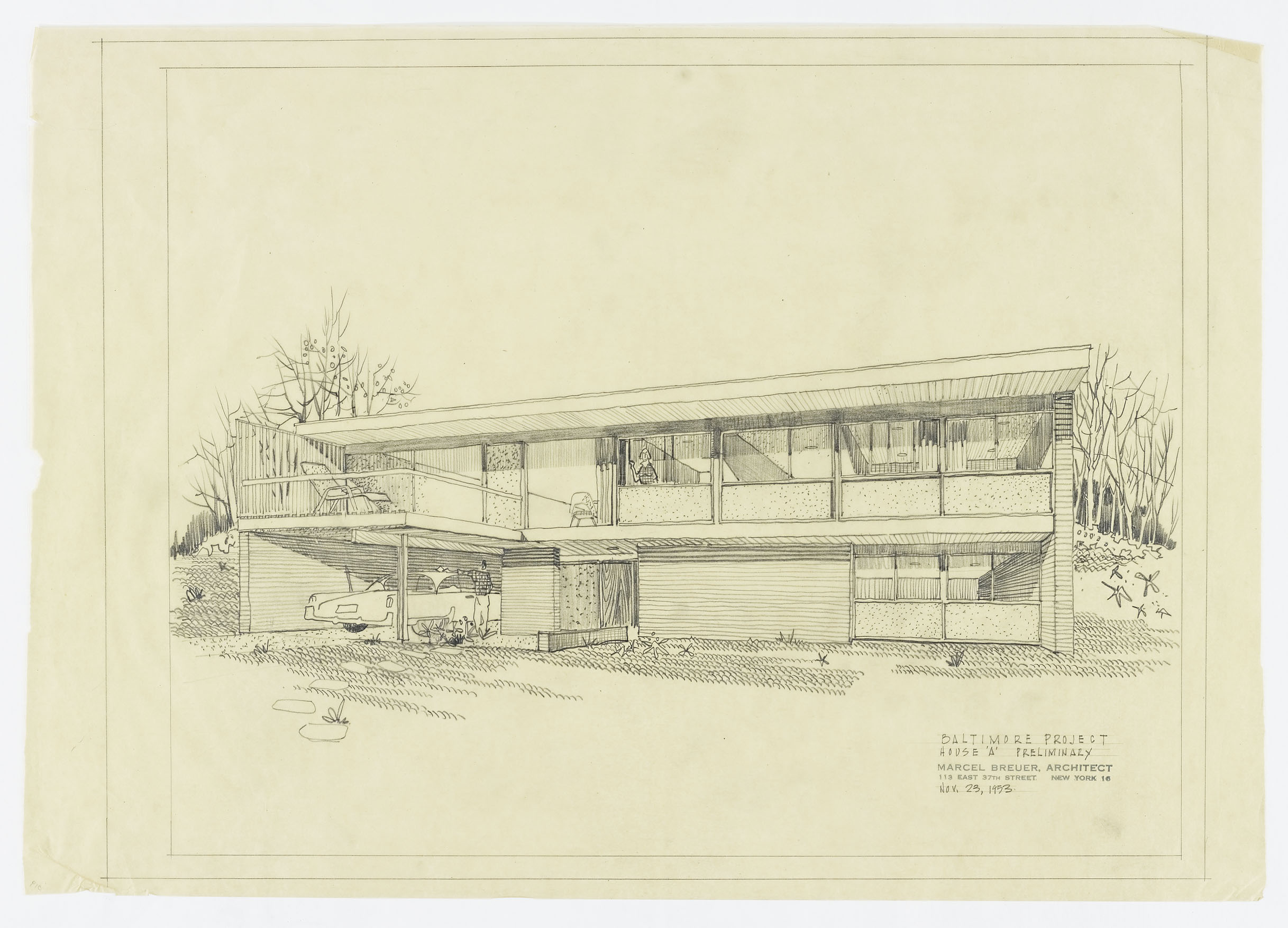 Click to select: House A Preliminary: Sketch Renderings