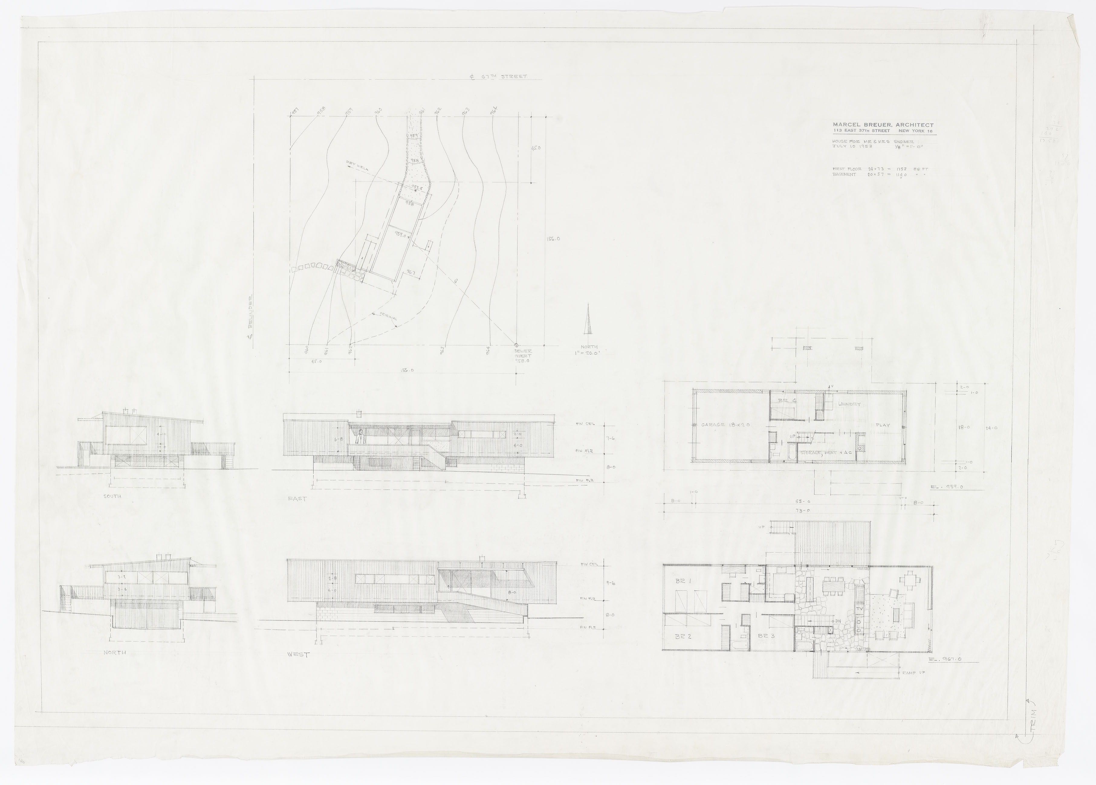 Preliminary Sheet: Elevations, Site Plan and Floor Plans