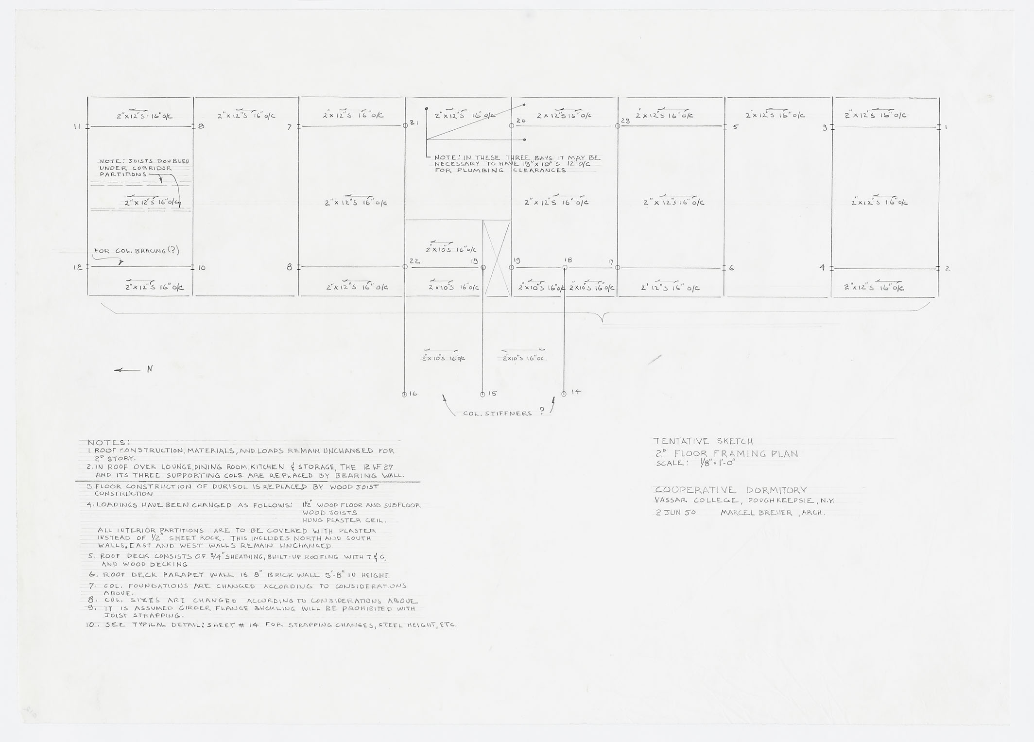 Click to select: Tentative Sketch: Second Floor Framing Plan