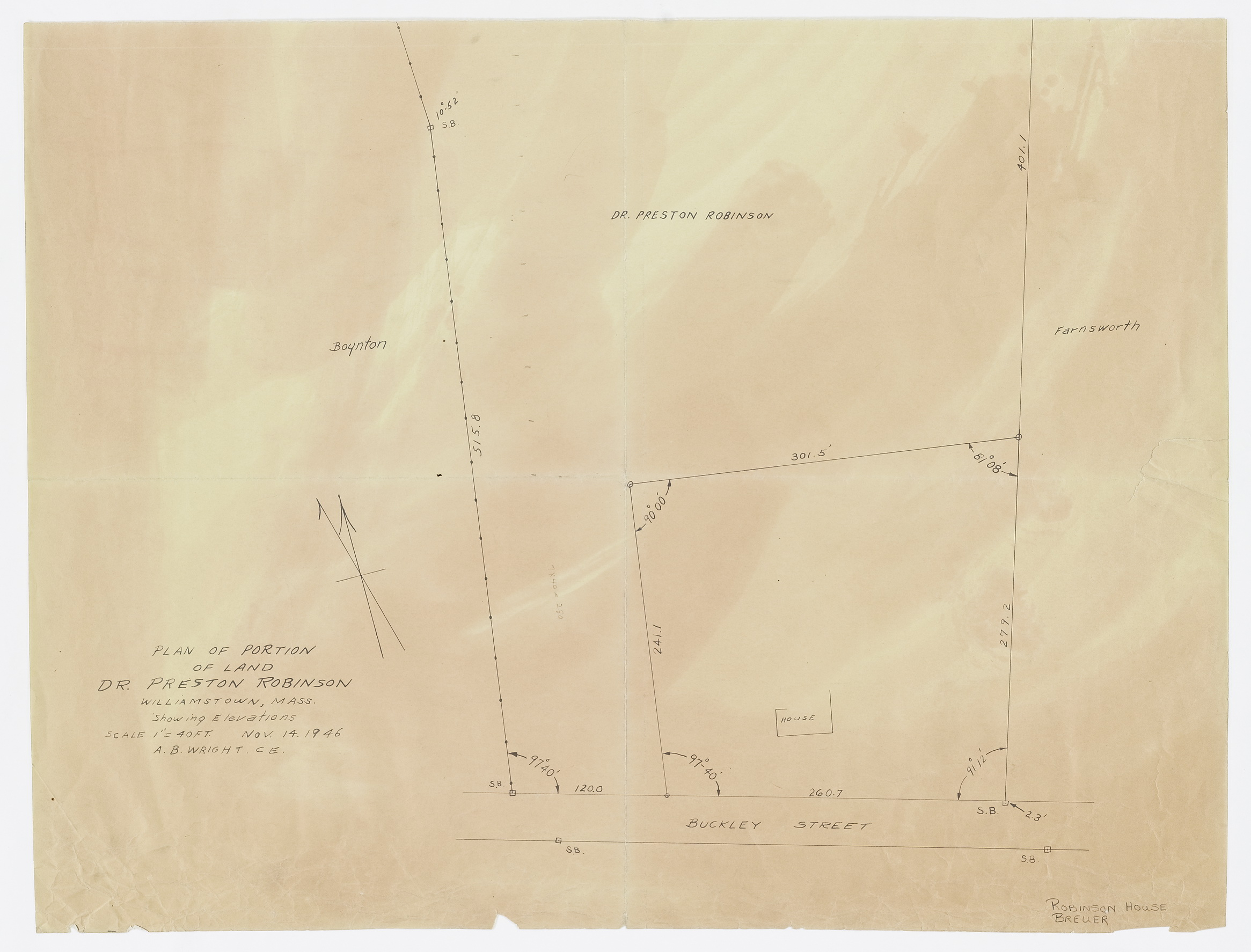 Click to select: Plan of Portion of Land Dr. Preston Robinson