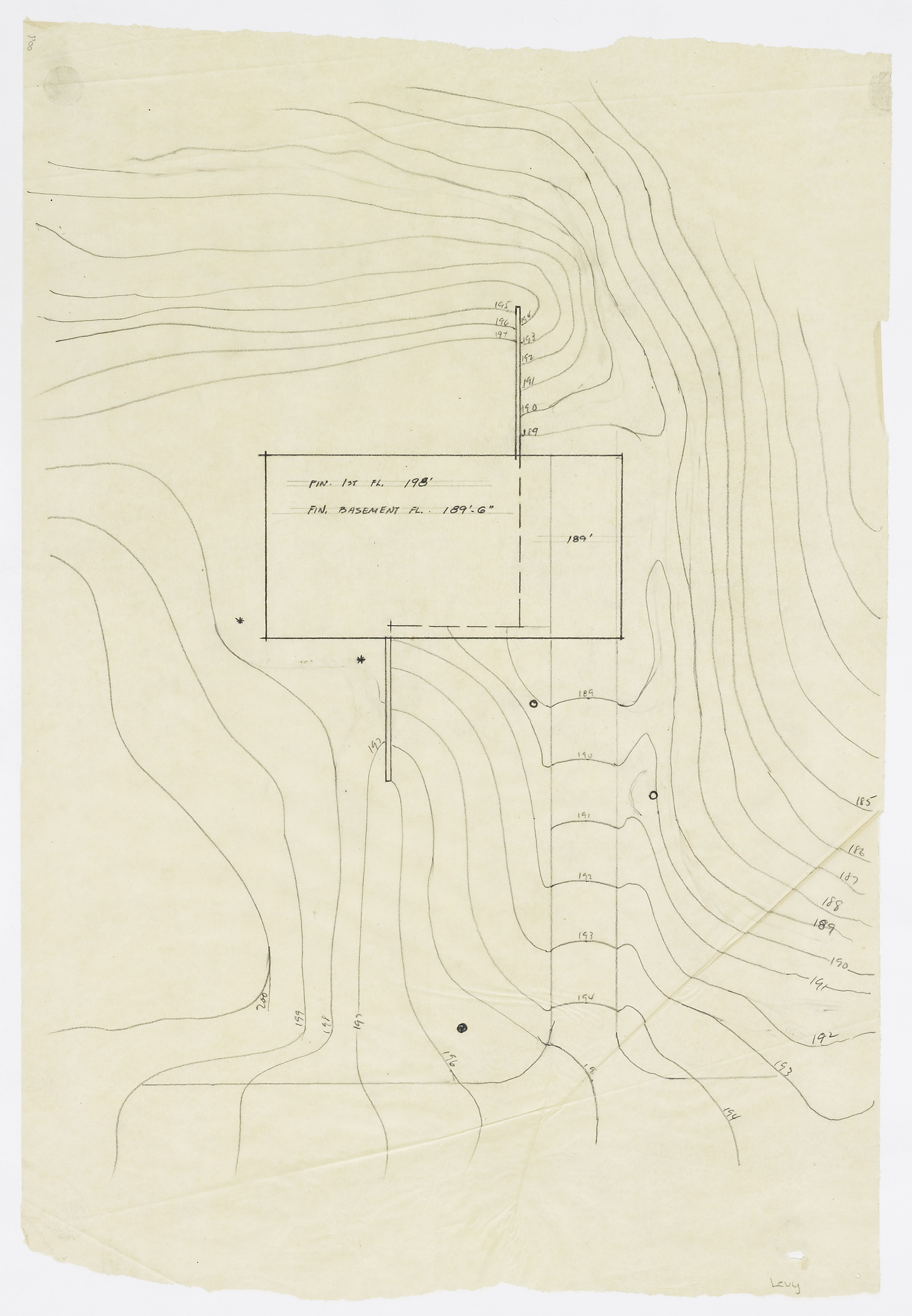 Click to select: Site Plan Showing Contour Lines