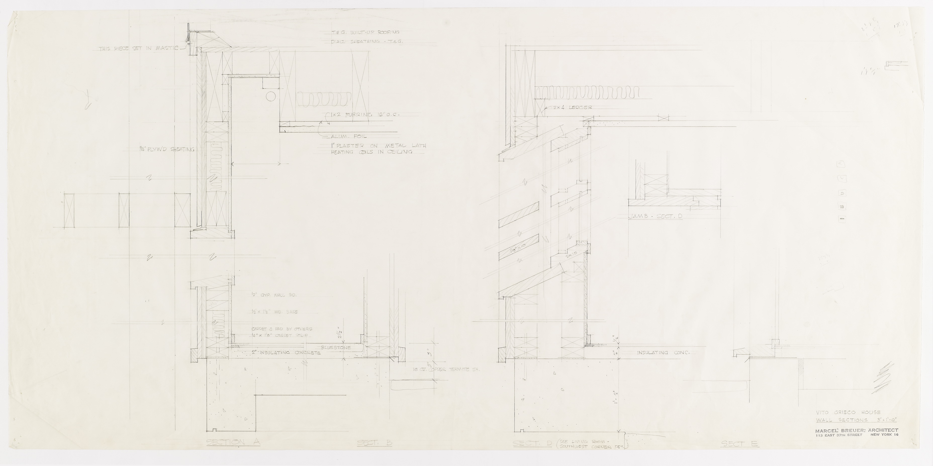 Click to select: Wall Sections (preliminary drawings)