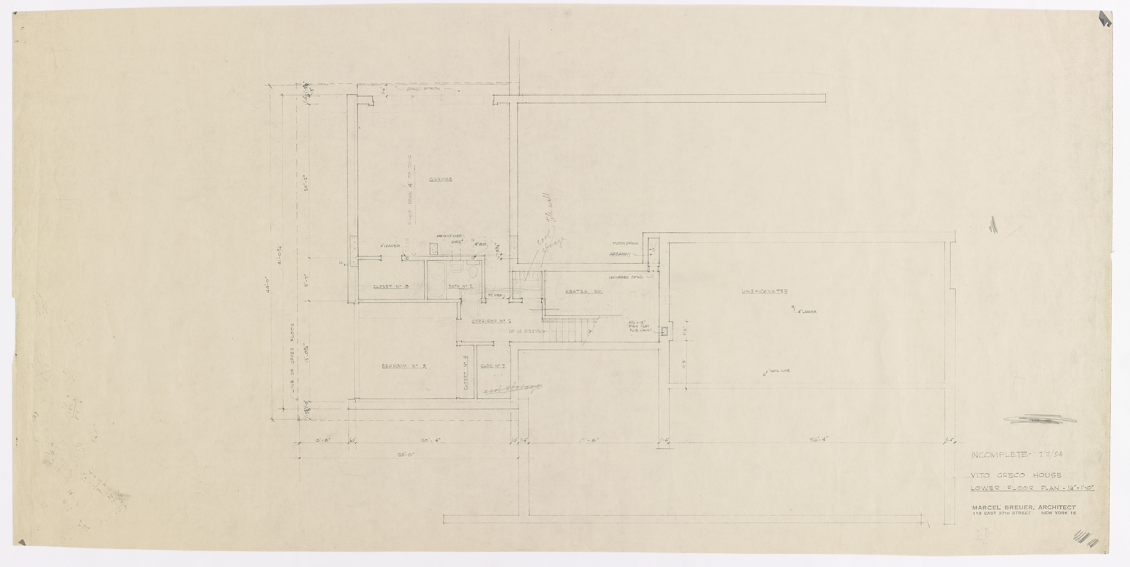 Click to select: Lower Floor Plan (Incomplete) (annotated print)