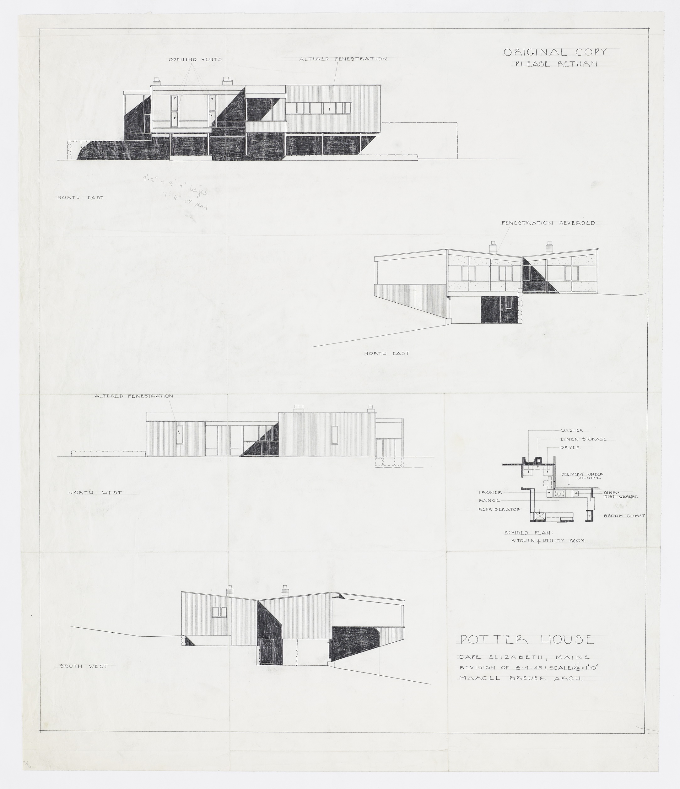 Chase brass and copper company addition turner construction company - Potter House Project Type Residential Years 1948 1949