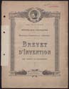 Click to select: Brevet d'Invention.  No. 640 760